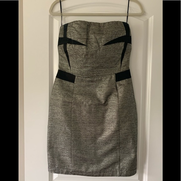 See By Chloe Dresses & Skirts - See by Chloe Strapless Metallic Dress